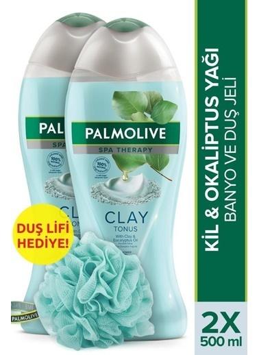Palmolive Palmolive Spa Therapy Clay Tonus Kil Ve Gül Yağı Banyo 2'li Duş Jeli 500ml ve Duş Lifi Hediyeli Renksiz